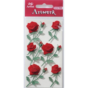STICKER RED ROSES