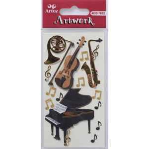 STICKER CLASSIC MUSIC INSTRUMENTS