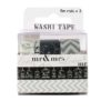 "PACK 3 ""BLANCO Y NEGRO"" WASHI TAPE"
