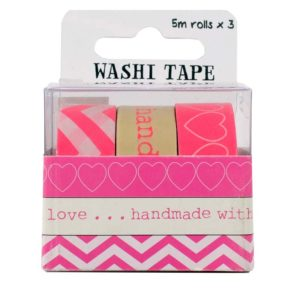 "PACK 3 ""LOVE"" WASHI TAPE"