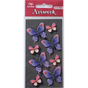 STICKER MARIPOSAS LILA