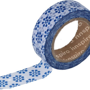 FLORES AZULES WASHI TAPE