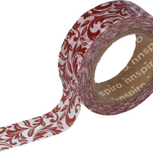 ROJO ARABESCO WASHI TAPE