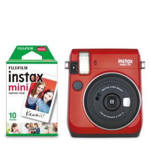 KIT INSTAX MINI 70 + FILM RED